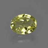 thumb image of 1.6ct Oval Facet Green Yellow Sillimanite (ID: 411559)