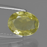 thumb image of 1.4ct Oval Facet Green Yellow Sillimanite (ID: 411566)