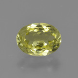thumb image of 1.4ct Oval Facet Green Yellow Sillimanite (ID: 411600)
