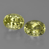 thumb image of 3.3ct Oval Facet Green Yellow Sillimanite (ID: 411622)