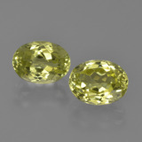 thumb image of 3.4ct Oval Facet Green Yellow Sillimanite (ID: 411627)