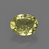 thumb image of 1.3ct Oval Facet Green Yellow Sillimanite (ID: 411643)