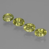 thumb image of 3.4ct Oval Facet Green Yellow Sillimanite (ID: 411721)