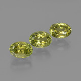 thumb image of 3.2ct Oval Facet Green Yellow Sillimanite (ID: 411811)