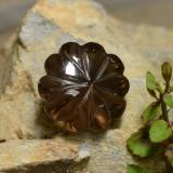 thumb image of 12.1ct Carved Flower Smoky Brown Smoky Quartz (ID: 255210)