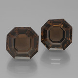 thumb image of 15.2ct Asscher Cut Brown Smoky Quartz (ID: 394696)