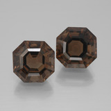 thumb image of 9.9ct Asscher Cut Brown Smoky Quartz (ID: 394705)
