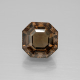 thumb image of 4.2ct Asscher Cut Brown Smoky Quartz (ID: 394908)