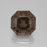 thumb image of 9.7ct Asscher Cut Umber Brown Smoky Quartz (ID: 397345)