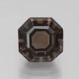 thumb image of 4.2ct Asscher Cut Brown Smoky Quartz (ID: 397412)