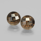 thumb image of 4ct Round Checkerboard Brown Smoky Quartz (ID: 398675)