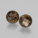 thumb image of 3.8ct Round Checkerboard Brown Smoky Quartz (ID: 398683)