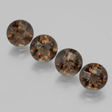 thumb image of 7.2ct Round Checkerboard Brown Smoky Quartz (ID: 398711)