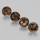 thumb image of 7.8ct Round Checkerboard Brown Smoky Quartz (ID: 398713)