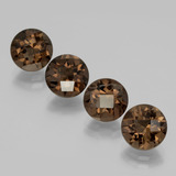 thumb image of 7.6ct Round Checkerboard Brown Smoky Quartz (ID: 398718)