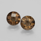thumb image of 3.4ct Round Checkerboard Brown Smoky Quartz (ID: 398794)