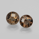 thumb image of 3.6ct Round Checkerboard Brown Smoky Quartz (ID: 398795)