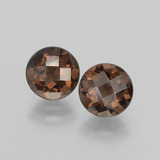 thumb image of 3.6ct Round Checkerboard Brown Smoky Quartz (ID: 398800)