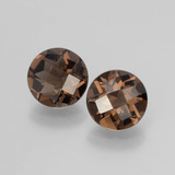 thumb image of 3.2ct Round Checkerboard Brown Smoky Quartz (ID: 398801)