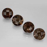thumb image of 7ct Round Checkerboard Brown Smoky Quartz (ID: 398854)