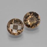 thumb image of 3ct Round Checkerboard Brown Smoky Quartz (ID: 400051)