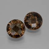 thumb image of 3.5ct Round Checkerboard Brown Smoky Quartz (ID: 400723)