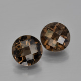 thumb image of 3.3ct Round Checkerboard Brown Smoky Quartz (ID: 400814)