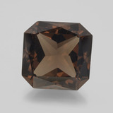 thumb image of 9ct Octagon / Scissor Cut Brown Smoky Quartz (ID: 400875)