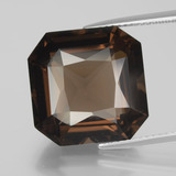 thumb image of 13.5ct Octagon / Scissor Cut Brown Smoky Quartz (ID: 400878)