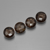 thumb image of 5.6ct Round Checkerboard Brown Smoky Quartz (ID: 400912)