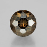 thumb image of 4.8ct Round Petal Cut Brown Smoky Quartz (ID: 401047)
