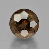 thumb image of 6ct Round Petal Cut Brown Smoky Quartz (ID: 401204)