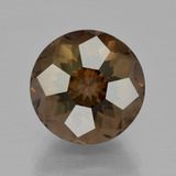 thumb image of 6.6ct Round Petal Cut Brown Smoky Quartz (ID: 401208)