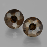 thumb image of 10.2ct Round Petal Cut Brown Smoky Quartz (ID: 401334)
