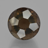 thumb image of 9.7ct Round Petal Cut Brown Smoky Quartz (ID: 401338)