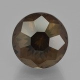 thumb image of 10.1ct Round Petal Cut Brown Smoky Quartz (ID: 401342)