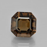 thumb image of 9.1ct Asscher Cut Brown Smoky Quartz (ID: 401422)