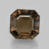 thumb image of 9.2ct Asscher Cut Brown Smoky Quartz (ID: 401427)