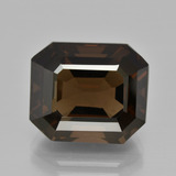 thumb image of 11.9ct Octagon Facet Brown Smoky Quartz (ID: 401481)