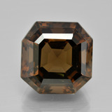 thumb image of 13.6ct Asscher Cut Brown Smoky Quartz (ID: 401486)