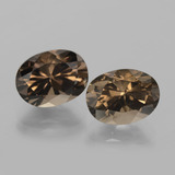 thumb image of 6.5ct Oval Facet Brown Smoky Quartz (ID: 403862)