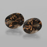thumb image of 10.9ct Oval Facet Brown Smoky Quartz (ID: 403864)