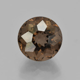 thumb image of 5.5ct Round Petal Cut Brown Smoky Quartz (ID: 404080)