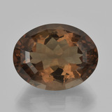 thumb image of 19.2ct Oval Facet Brown Smoky Quartz (ID: 404252)