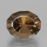 thumb image of 8.6ct Oval Mixed Cut Brown Smoky Quartz (ID: 404295)