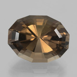 thumb image of 11.7ct Oval Mixed Cut Brown Smoky Quartz (ID: 404303)