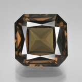 thumb image of 6.2ct Octagon / Scissor Cut Brown Smoky Quartz (ID: 407993)