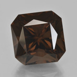 thumb image of 16.2ct Octagon / Scissor Cut Brown Smoky Quartz (ID: 408042)