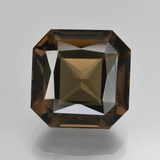 thumb image of 8ct Octagon / Scissor Cut Brown Smoky Quartz (ID: 408070)