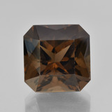 thumb image of 10ct Octagon / Scissor Cut Brown Smoky Quartz (ID: 408131)